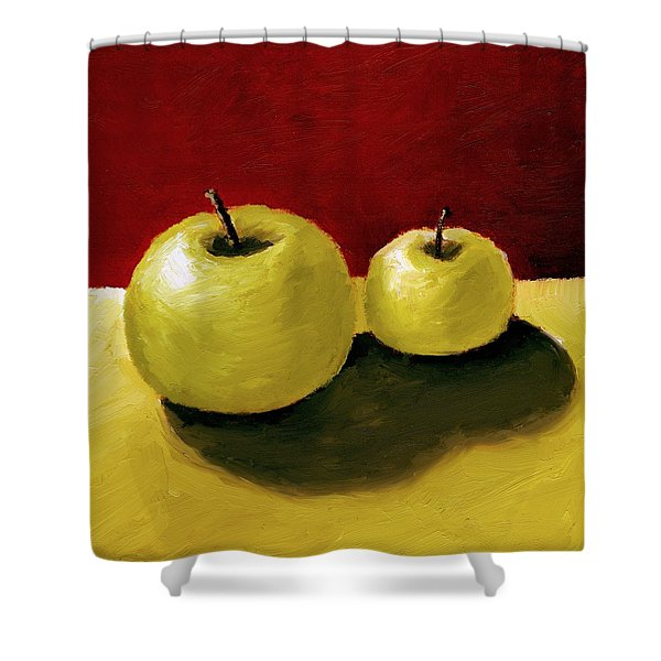 Granny Smith Apples Shower Curtain