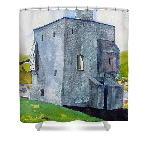 Granuaile's Castle Behind The Hill Shower Curtain