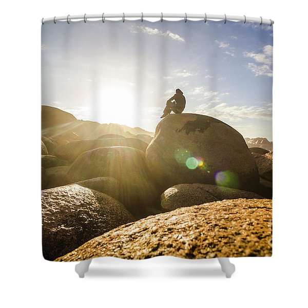 Granville Harbour Reflections Shower Curtain