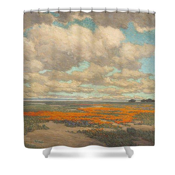Granville Redmond - California Poppy Field - 1915. 2 Shower Curtain