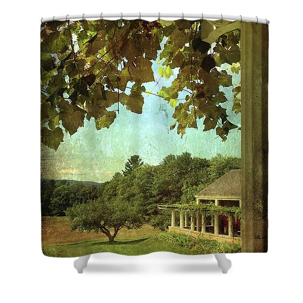 Grapes On Arbor  Shower Curtain