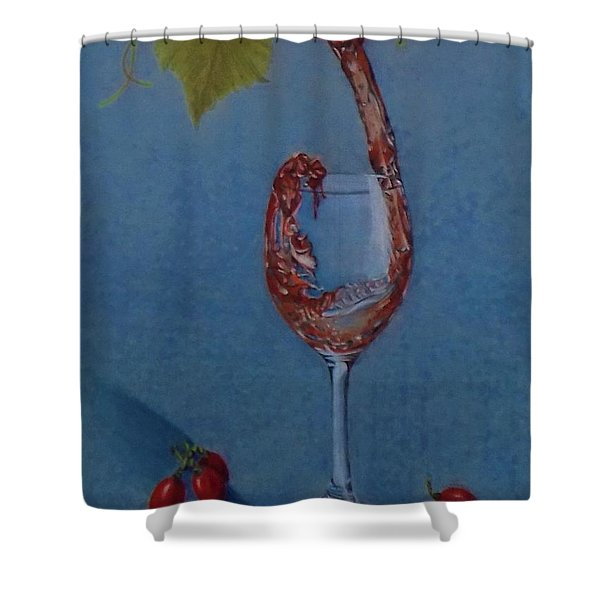 Grapes To Wine Shower Curtain