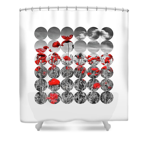Graphic Art Poppies Shower Curtain