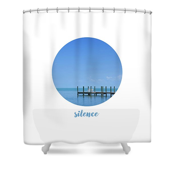 Graphic Art Silence - Oceanview Shower Curtain