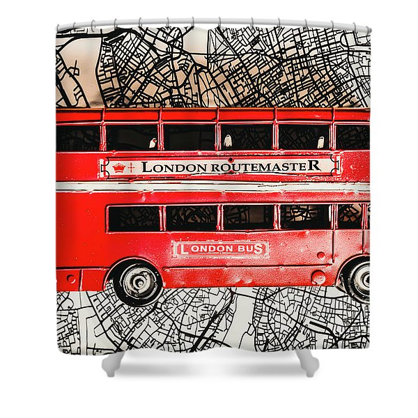 Graphic Of Great Britain Shower Curtain