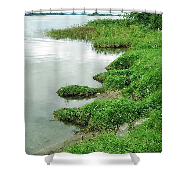 Grass And Water Shower Curtain