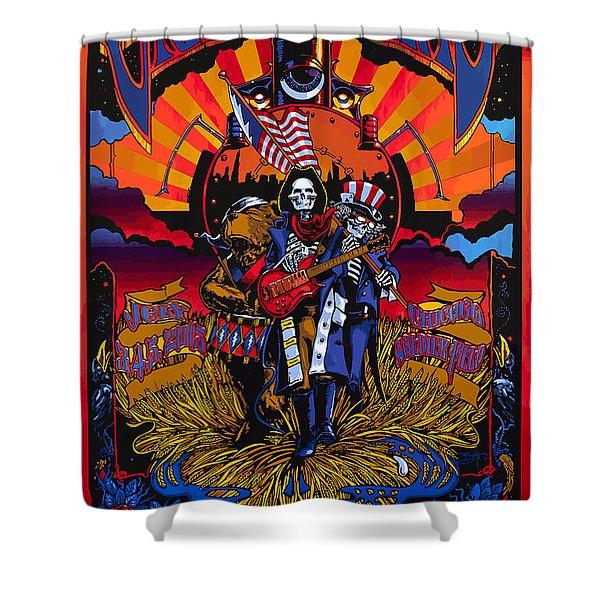 Grateful Deads Soldier Field Chicago Shower Curtain
