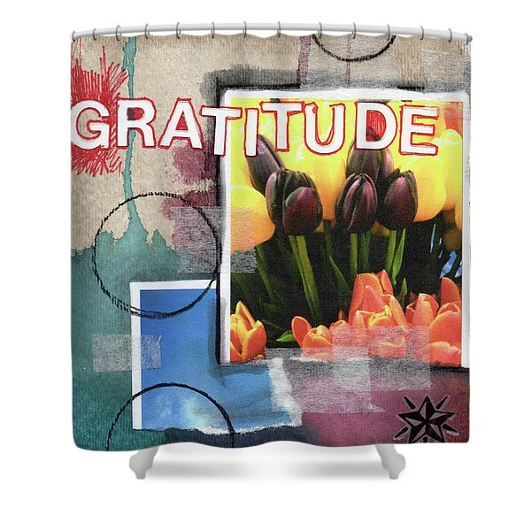 Gratitude- Art By Linda Woods Shower Curtain