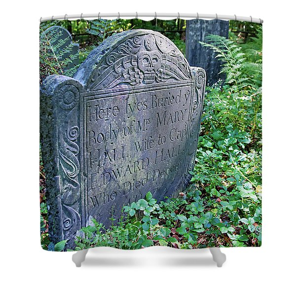 Grave Of Mary Hall Shower Curtain