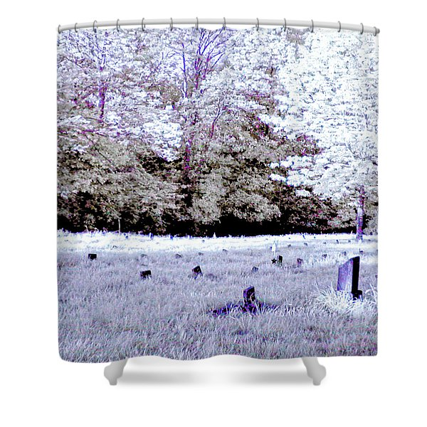 Graveyard At The Ridges In Athens Shower Curtain