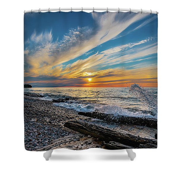Graveyard Coast Sunset Shower Curtain