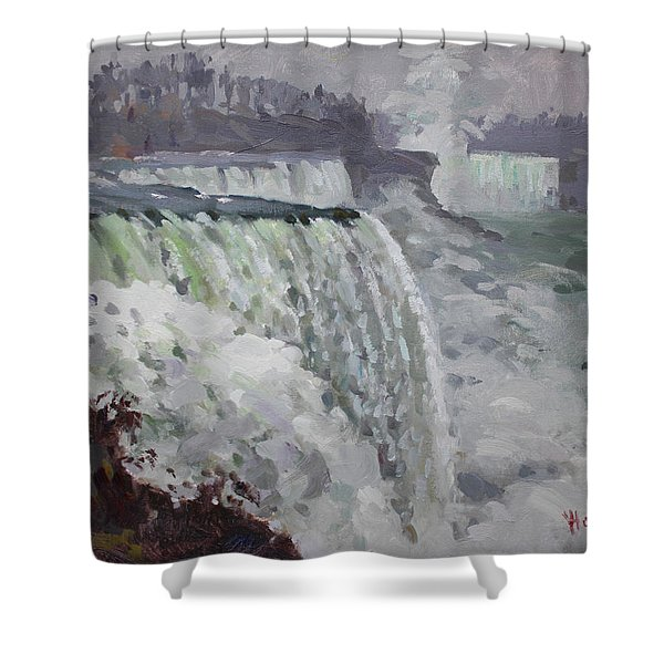 Gray And Cold At American Falls Shower Curtain