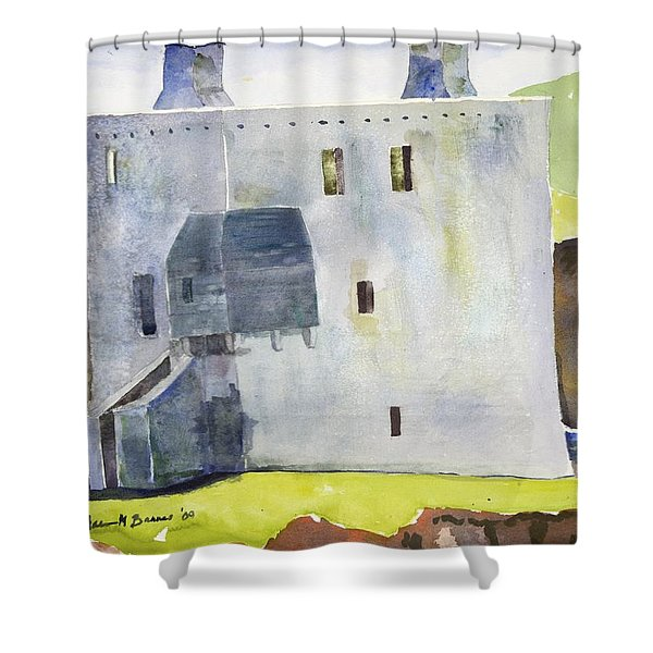 Gray Castle Shower Curtain