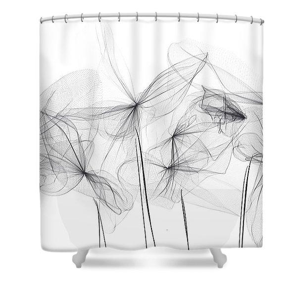 Grayish Spring - Modern Art Shower Curtain