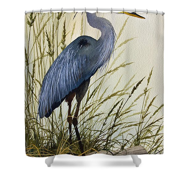 Great Blue Heron Splendor Shower Curtain
