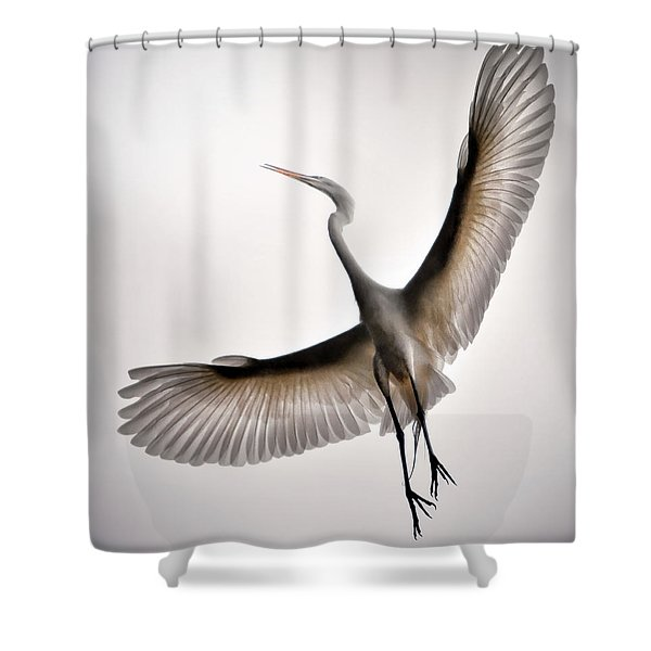 Great Egret Majesty Shower Curtain