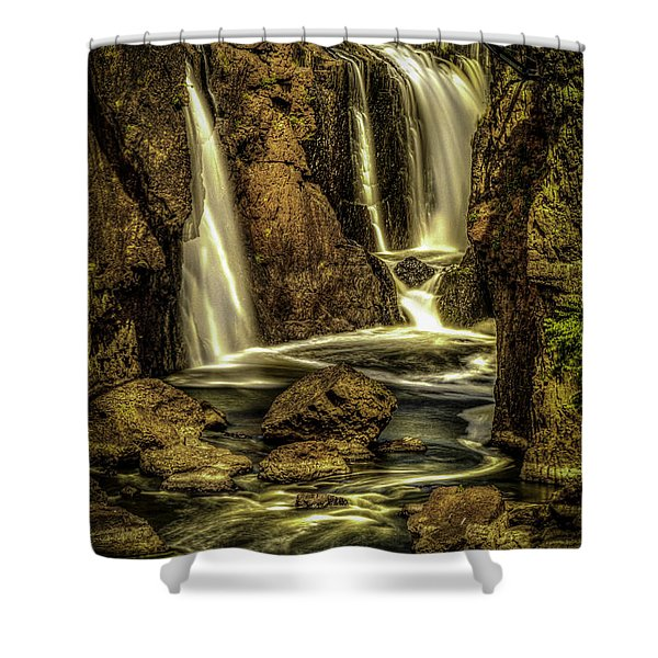Great Falls Close Up Shower Curtain