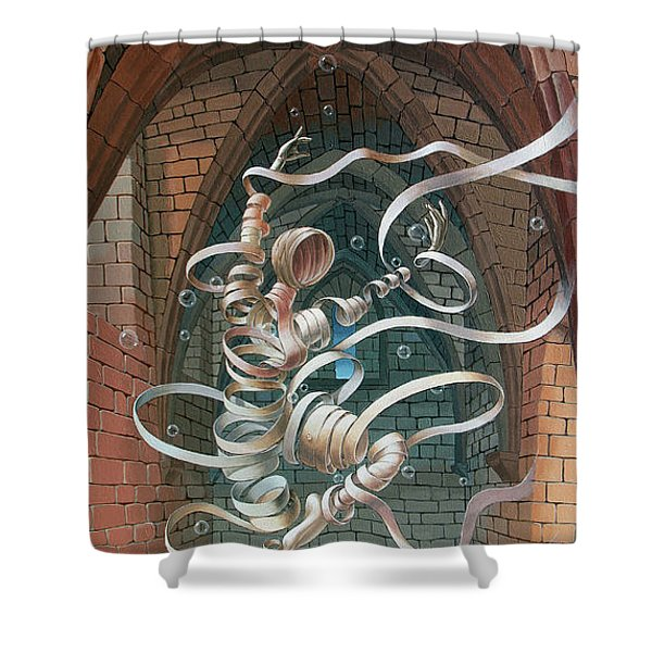 Great Ghost Of Caesarea Shower Curtain