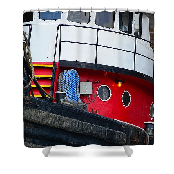Great Lakes Tugboat Shower Curtain