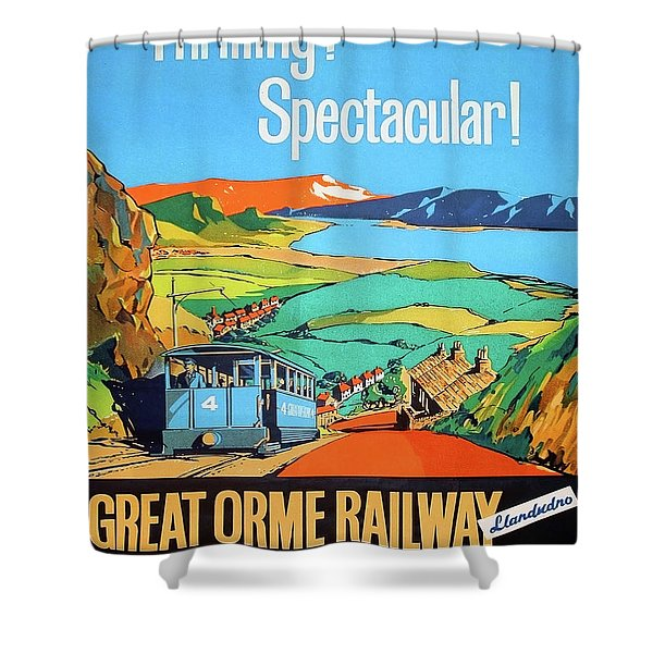 Great Orme Tramway, Great Britain Shower Curtain