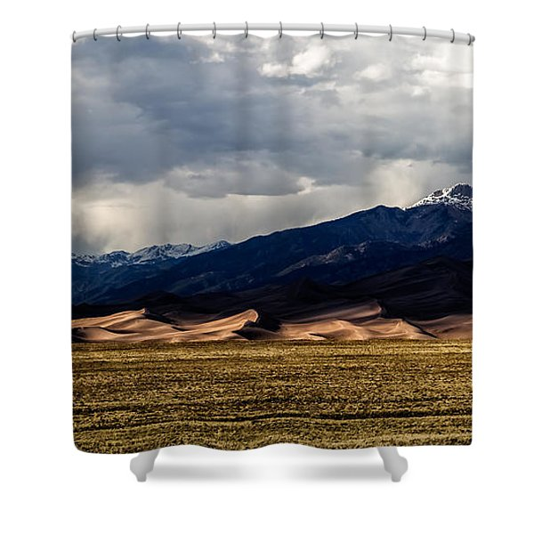 Great Sand Dunes Panorama Shower Curtain