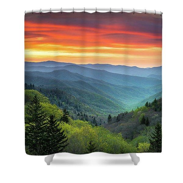 Great Smoky Mountains National Park Gatlinburg Tn Scenic Landscape Shower Curtain