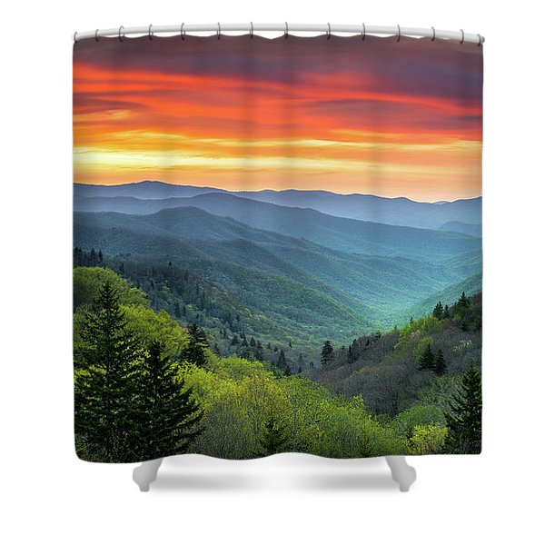 Great Smoky Mountains National Park Gatlinburg Tn Scenic Landscape Shower Curtain