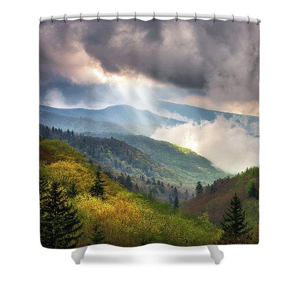 Great Smoky Mountains National Park Scenic Landscape Gatlinburg Tn Shower Curtain