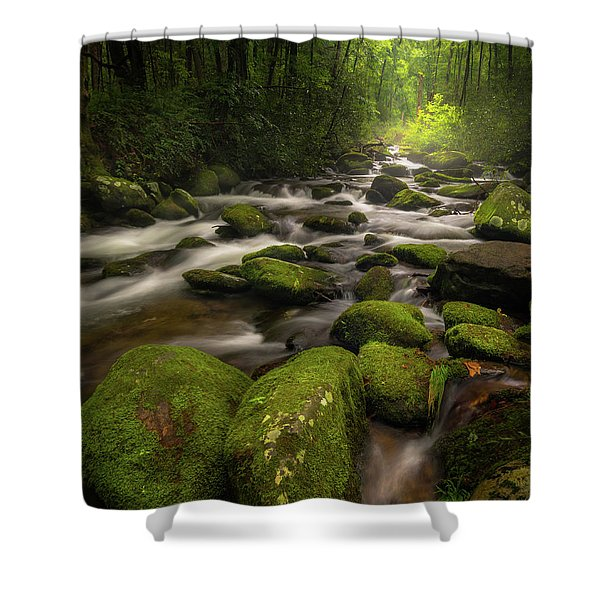 Great Smoky Mountains Roaring Fork Shower Curtain