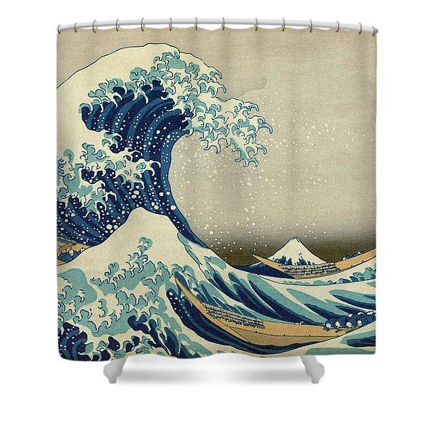 Great_wave_off_kanagawa2 Shower Curtain