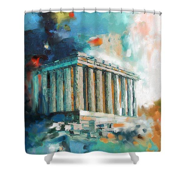 Greece Temple Acropolis 169 2  Shower Curtain