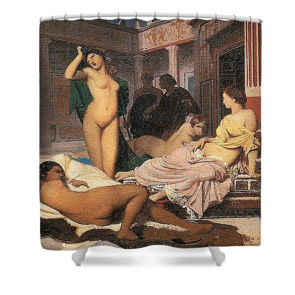 Greek Interior Sketch Jean-lon Grme Shower Curtain