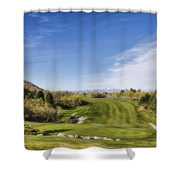 Green And Fairway Shower Curtain