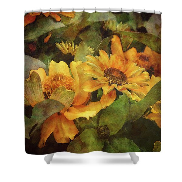 Green And Gold 1068 Idp_2 Shower Curtain