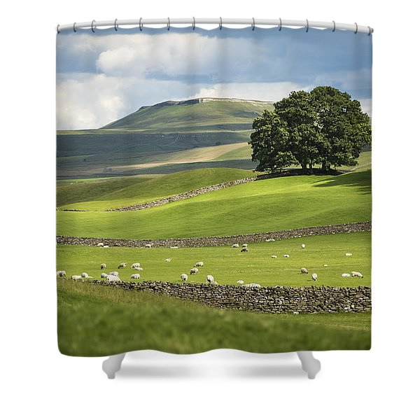 Green And Pleasant Land Shower Curtain