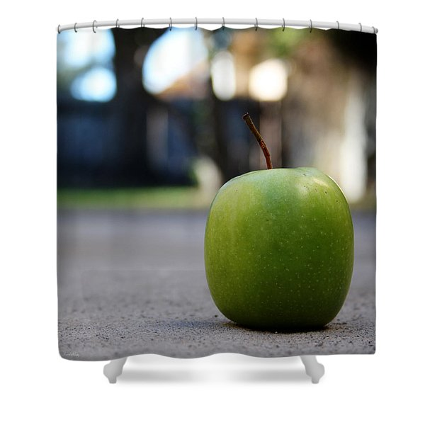 Green Apple- Photography By Linda Woods Shower Curtain