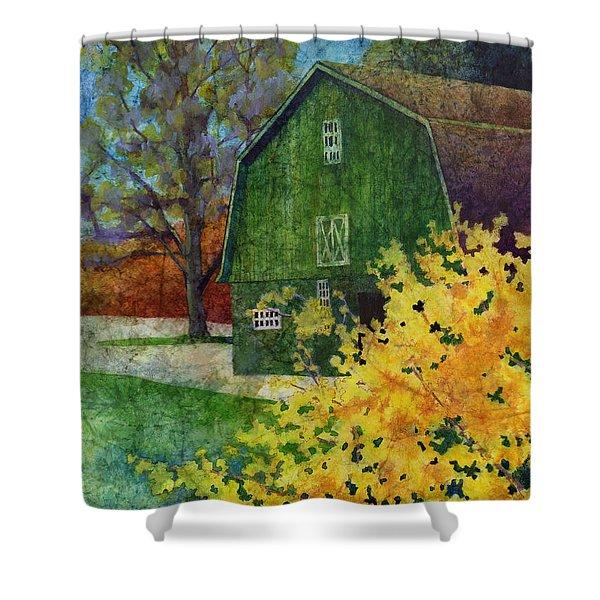 Green Barn Shower Curtain