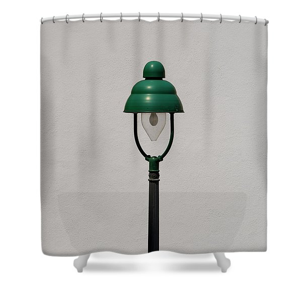 Green Bavarian Lamp Shower Curtain