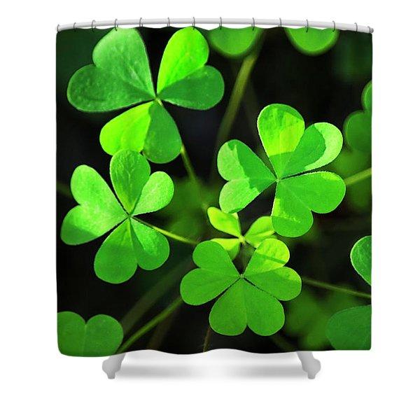 Green Clover Shower Curtain