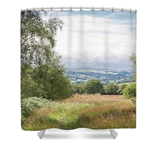 Green Corridor Shower Curtain