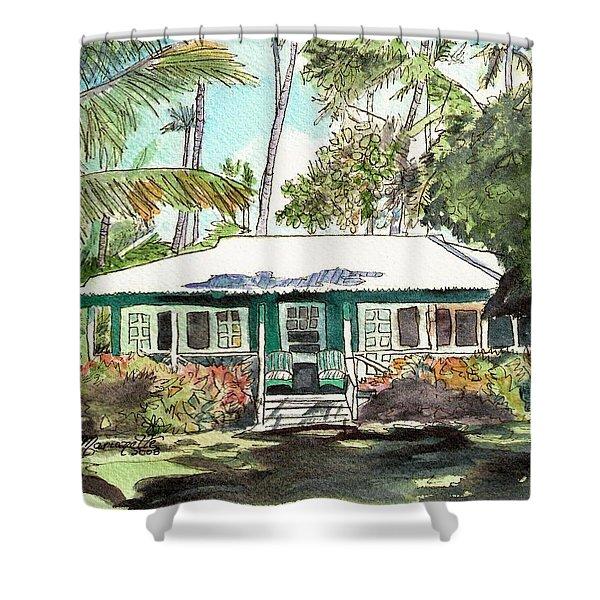 Green Cottage Shower Curtain