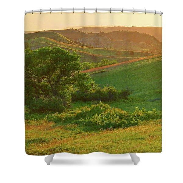 Green Dakota Dream Shower Curtain