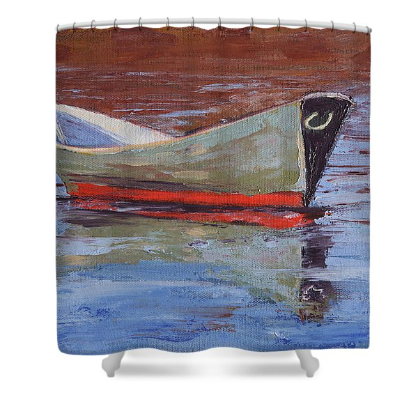 Green Dory Shower Curtain