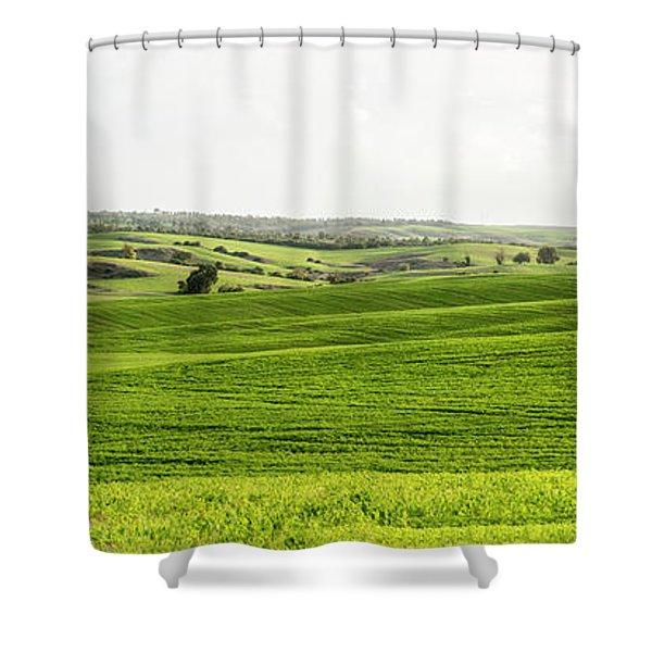 Green Fields. Shower Curtain