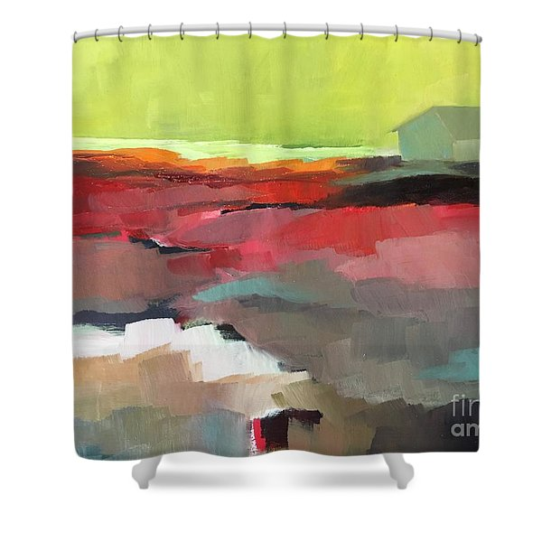 Green Flash Shower Curtain