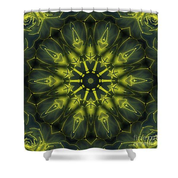 Succulent Mandala Shower Curtain