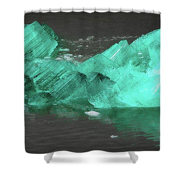 Green Iceberg Shower Curtain