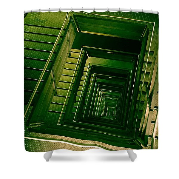 Green Infinity Shower Curtain