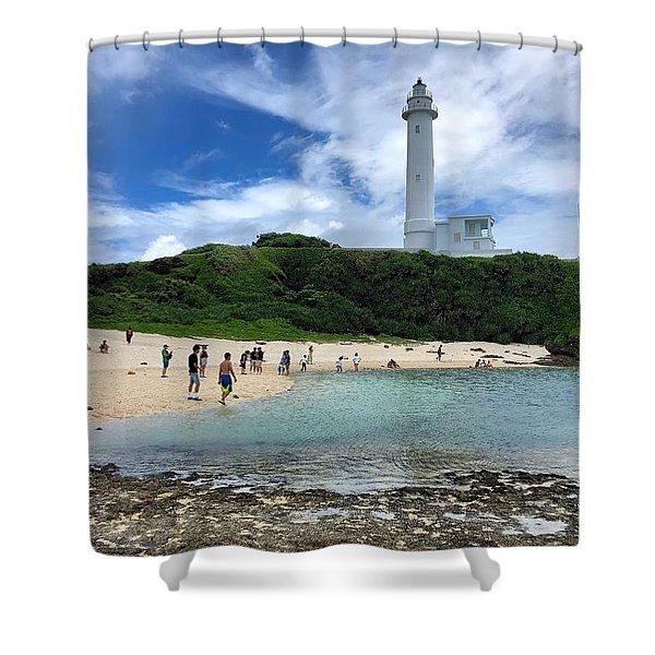 Green Island Beach Shower Curtain