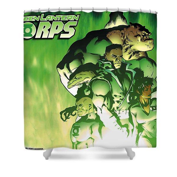 Green Lantern Corps Shower Curtain